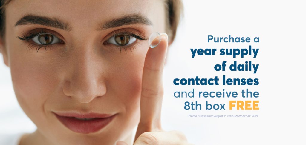 buy 1 year supply of daily contacts and get 8th box free